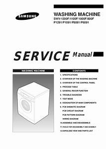 Download Samsung P1091 Front Load Washer Service  Repair