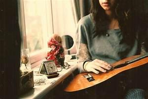 girl, guitar, music - image #176701 on Favim.com