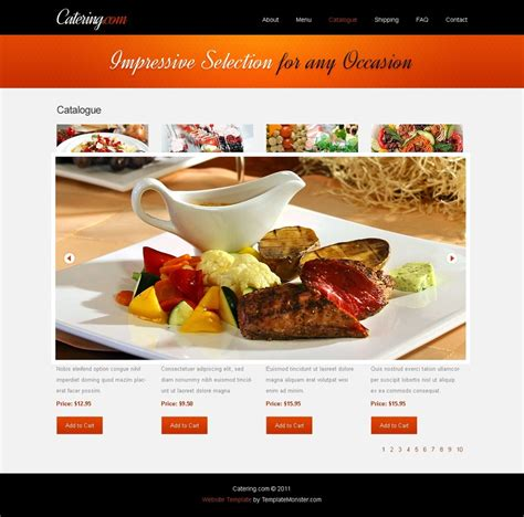 cuisine site free website template for food delivery