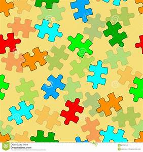Beautiful Seamless Wallpaper With Jigsaw Puzzle Royalty ...