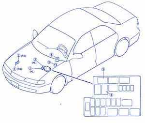 Mazda 626 2002 Engine Side Fuse Box  Block Circuit Breaker