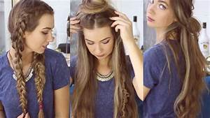 3 QUICK AND EASY BOHO HAIRSTYLES // Cute Heatless ...