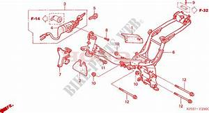 Frame Body For Honda Innova 125 2007   Honda Motorcycles  U0026 Atvs Genuine Spare Parts Catalog