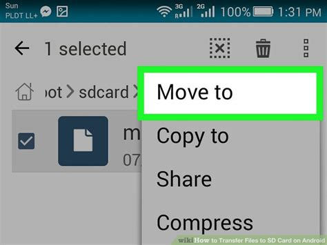 transfer files  sd card  android  steps