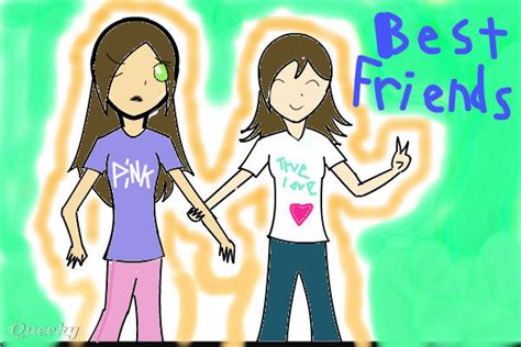 my bff and i an anime speedpaint drawing by shizukichan52 queeky draw paint