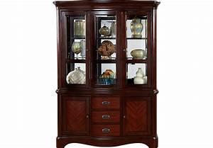 Granby Merlot 2 Pc China Cabinet - China Cabinets Dark Wood
