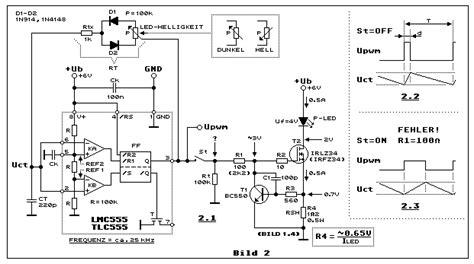 cmos impulsbreitenmodulator mit strombegrenzung timer