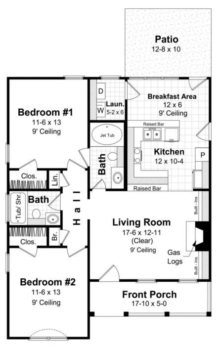 traditional plan  square feet  bedrooms  bathrooms