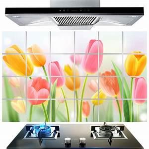 Cm flower kitchen wall stickers decal home decor art