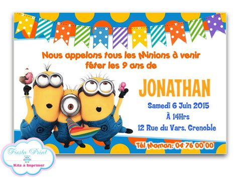 carte invitation minion lighteam
