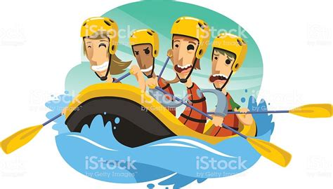 Rafting Boat Clipart by River Rafting Illustration Stock Vector More