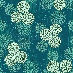 Abstract flowers floral green seamless background Stock
