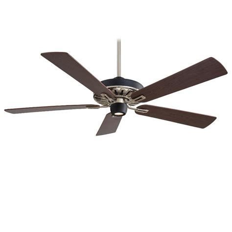 minka aire f672 mbk bn iconic black nickel 60 quot ceiling fan