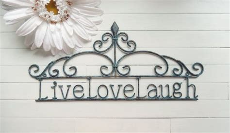 This piece compliments any decor style, and makes a wonderful housewarming, wedding or anniversary gift. Home Decor Sign / Live Love Laugh Sign / Wall by WillowsGrace, $32.00 | Home decor signs, Wall ...