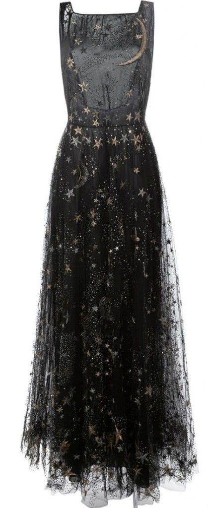 stars moon embroidered dress valentino pretty