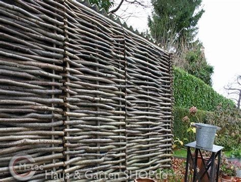 geflochtene gartenzäune sichtschutzmatten aus natur bambusmatten