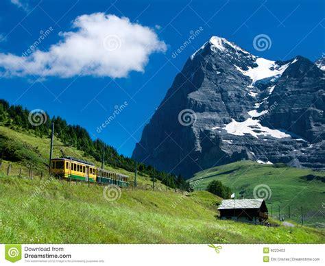 Mountain Train On Eiger Mountain Switzerland Stock Image