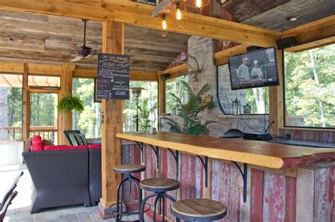 patio bar design ideas chic outdoor kitchens and bar design in country rustic