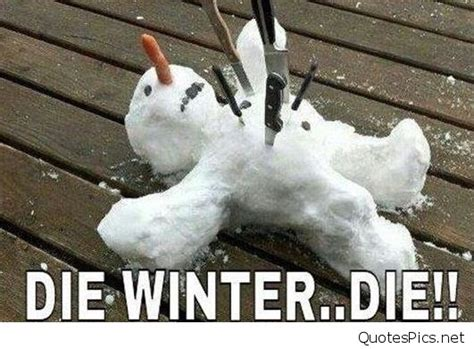 winter funny cartoon images sayings snowman