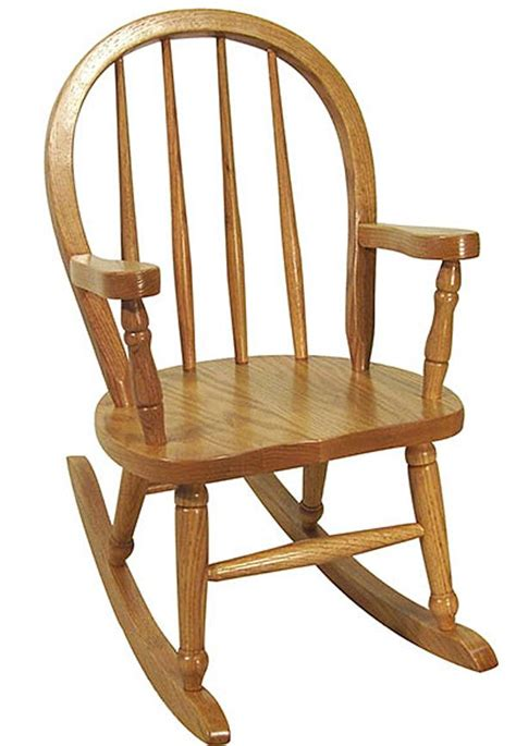 this oak child s bow pattern rocking chair is a