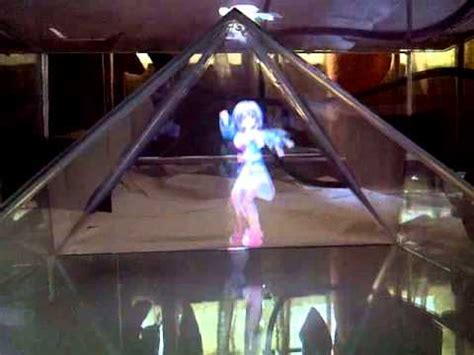 spe diy  holographic projection pyramid plutia dance