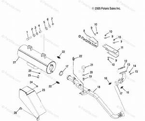 Polaris Side By Side 2006 Oem Parts Diagram For Exhaust