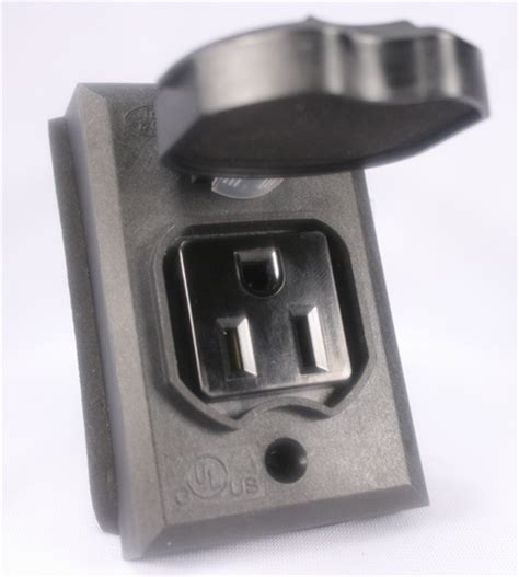 l post electrical outlet add on l post outlet black