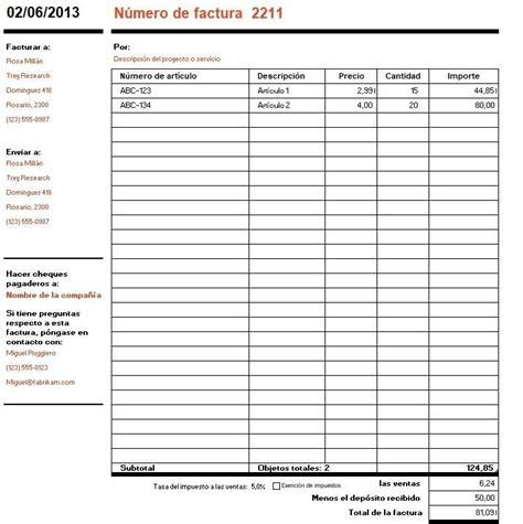 191 c 243 mo hacer una factura pasos y ejemplos de facturas definanzas