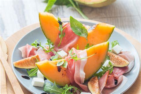 salade au melon jambon  figues fraiches recette de salade