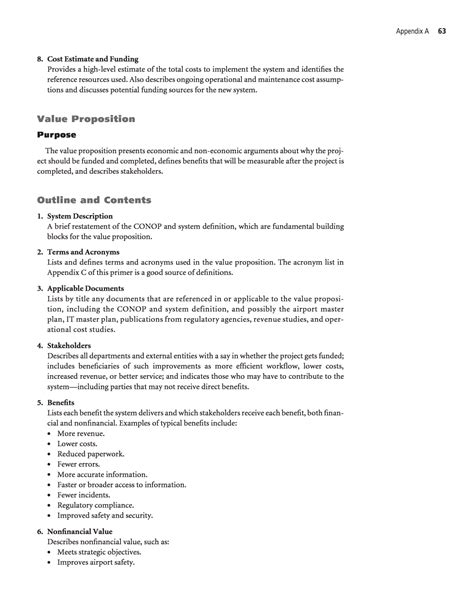Sometimes, its placement is suggested by the. Appendix A - Example Document Outlines   Information ...