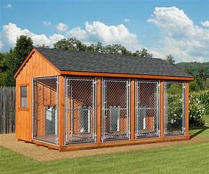 10 x 16 amish built large quad dog kennel With built dog kennels