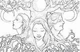 Coloring Triple Printable sketch template