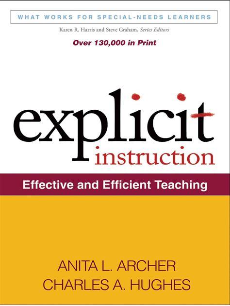Explicit Direct Instruction Sample Lesson Plans