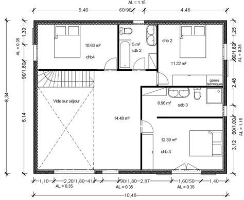 plan maison r 1 plan de maison cubique le monde de l 233 a