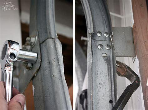 garage door track how to replace garage door rollers pretty handy