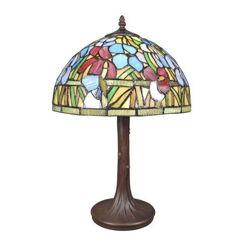Lampe Tiffany Avec Un Vitrail Fleuri  Lampes Tiffany