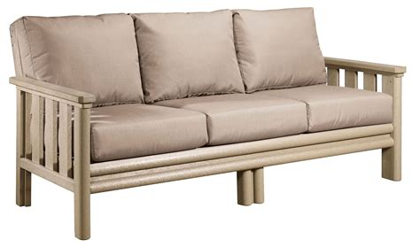 stratford beige sofa with beige sunbrella cushions from cr