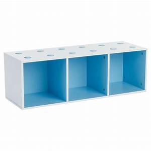 Meuble De Rangement Cube : meuble de rangement empilable 3 cubes abc bleu ~ Teatrodelosmanantiales.com Idées de Décoration