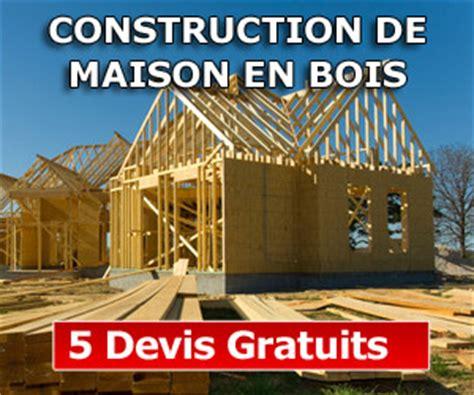devis maison en bois faire construire une maison en bois ou une maison traditionnelle construire facile