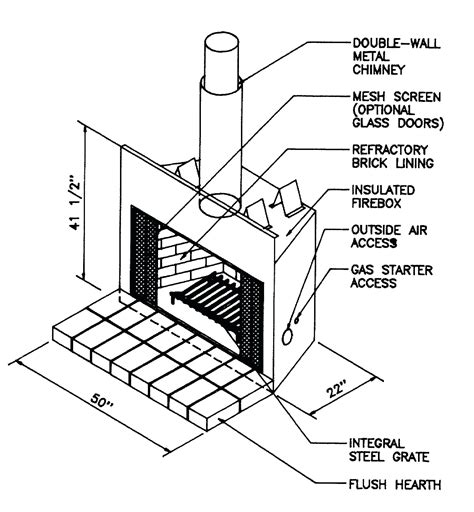 parts of a fireplace chimney parts names best image voixmag
