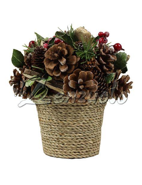 fiori vaso vaso fiori decorazione natalizia by preziosa in due varianti