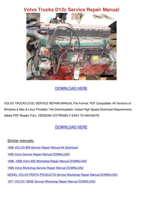small engine repair manuals free download 1996 volvo 960 parental controls volvo trucks d12c service repair manual by louisakerr issuu