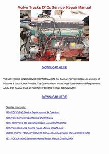 Volvo Trucks D12c Service Repair Manual By Louisakerr