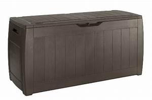 Box Für Sitzauflagen : keter 17191974 kissenbox hollywood box 270l holzoptik kunststoff braun potibe ~ Orissabook.com Haus und Dekorationen