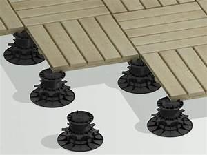 Plot Plastique Terrasse : plots r glables pvc pour terrasse deck linea ~ Edinachiropracticcenter.com Idées de Décoration
