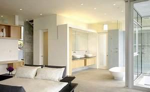 Petite Salle De Bain Ouverte Sur Chambre : d co salle de bain ouverte sur chambre ~ Melissatoandfro.com Idées de Décoration