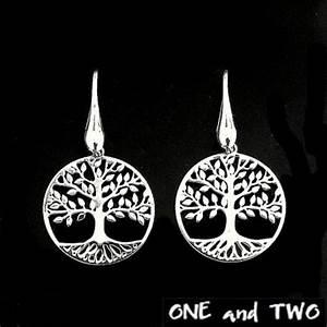Arbre à Boucle D Oreille : boucle d 39 oreille arbre de vie bijoux femme ~ Teatrodelosmanantiales.com Idées de Décoration