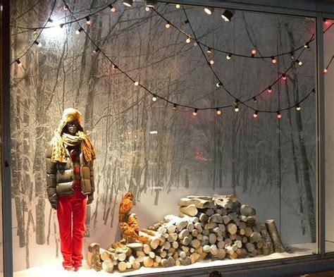 winter landscape  window display visual merchandising