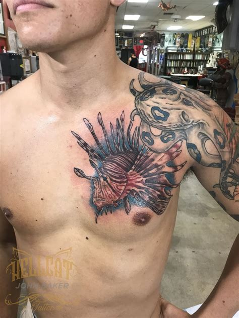 latest lionfish tattoos find lionfish tattoos