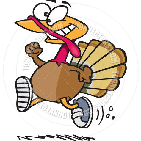Turkey Running In A Turkey Trot Template by Running Turkey Clipart Black And White Clipart Panda